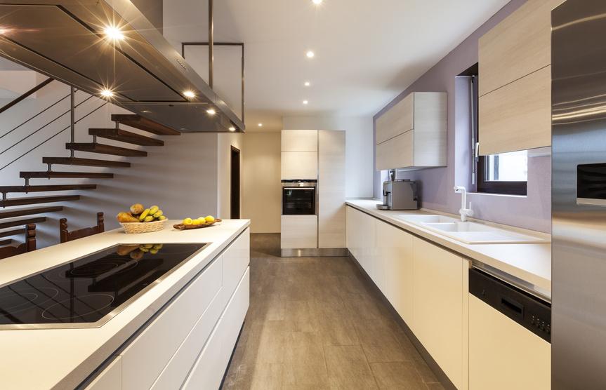 Beautiful modern kitchen, interior.
